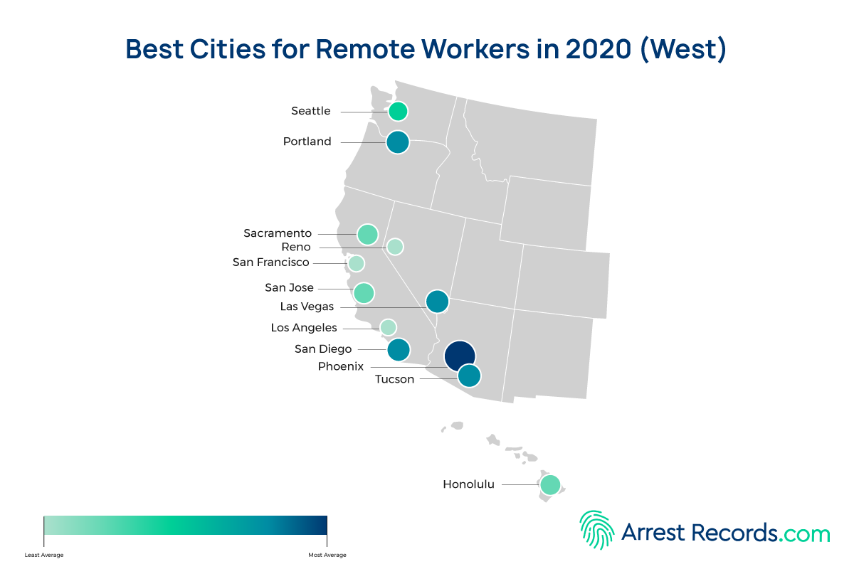Best Cities Remote Work west