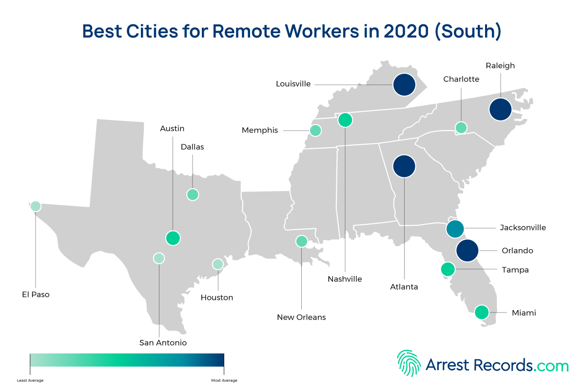 Best Cities Remote Workers south